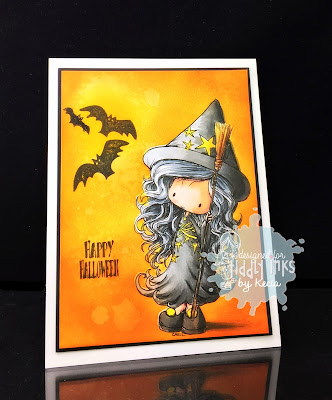 Tiddly Inks, Kecia Waters, Copic markers, Halloween, witch, Molly