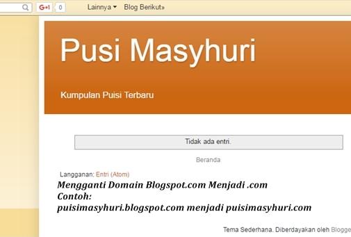 Cara mengubah domain blogspot menjadi com-net-xyz-id-webid-TLD
