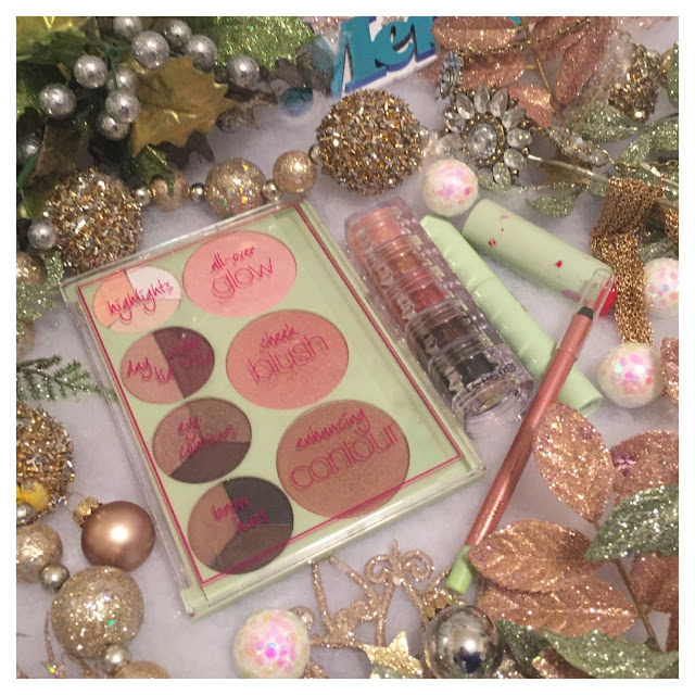 holiday, fairy dust, lipstick, eye pencil, face palette,