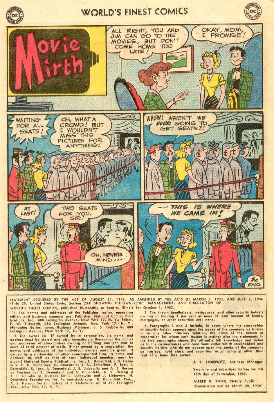 Read online World's Finest Comics comic -  Issue #93 - 24