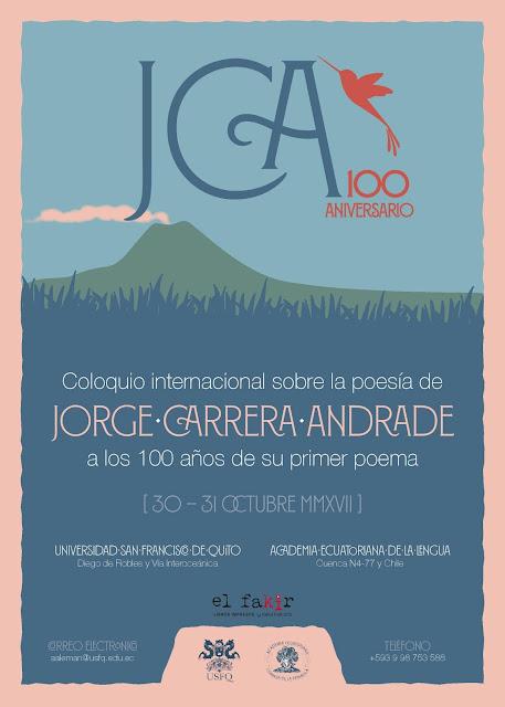 Año Carrera Andrade celebra cien años de la publicación del primer poema del famoso poeta ecuatoriano con una serie de actividades para difundir su obra