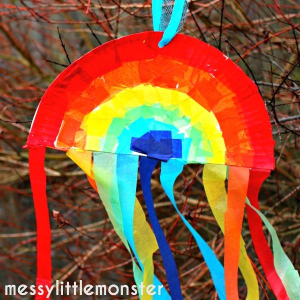 Rainbow Sun Catcher Messy Little Monster