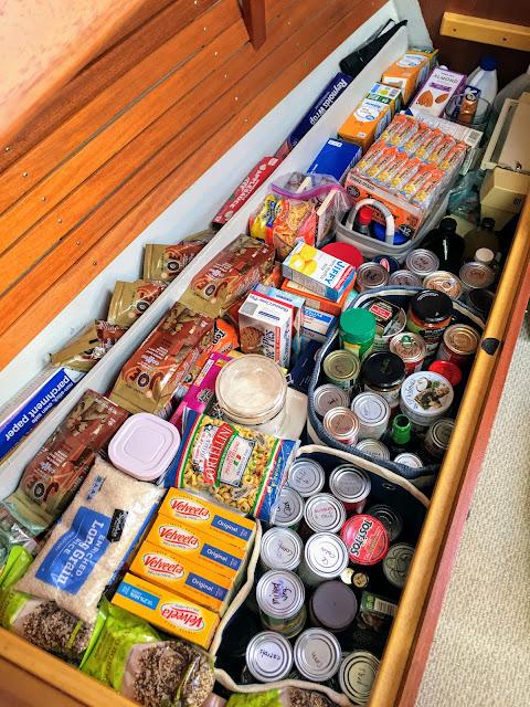 Hallberg Rassy 37, provisioning, food, shopping, cruising, sailing