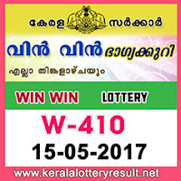 Official Win Win Lottery W 410 Results Today 15.5.2017