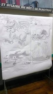 Animation aux scolaires... Création de créatures fantastiques et merveilleuses (chimères)... ©Guillaume Néel