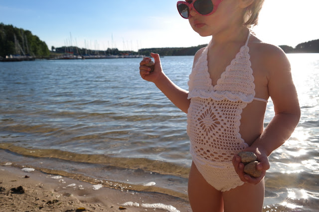 Szydełkowy strój kąpielowy