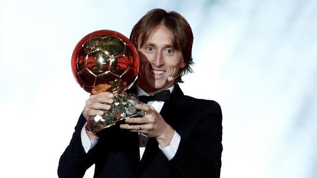 Luka Modric Rebut Gelar Ballon d'Or 2018