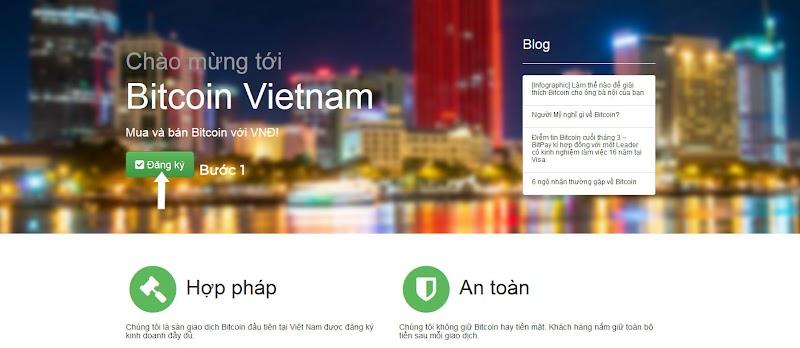 Hướng dẫn từng bước bằng hình ảnh cách đăng kí tài khoản tại Bitcoin Vietnam