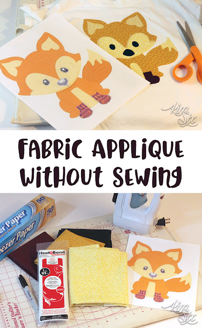 How to applique fabric onto clothing and t-shirts without HTV or a sewing machine. I love this idea! Such an easy way to applique!