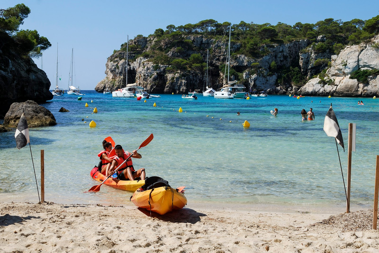 Cala Macarella Menorca Spain kayak itinerary what to do