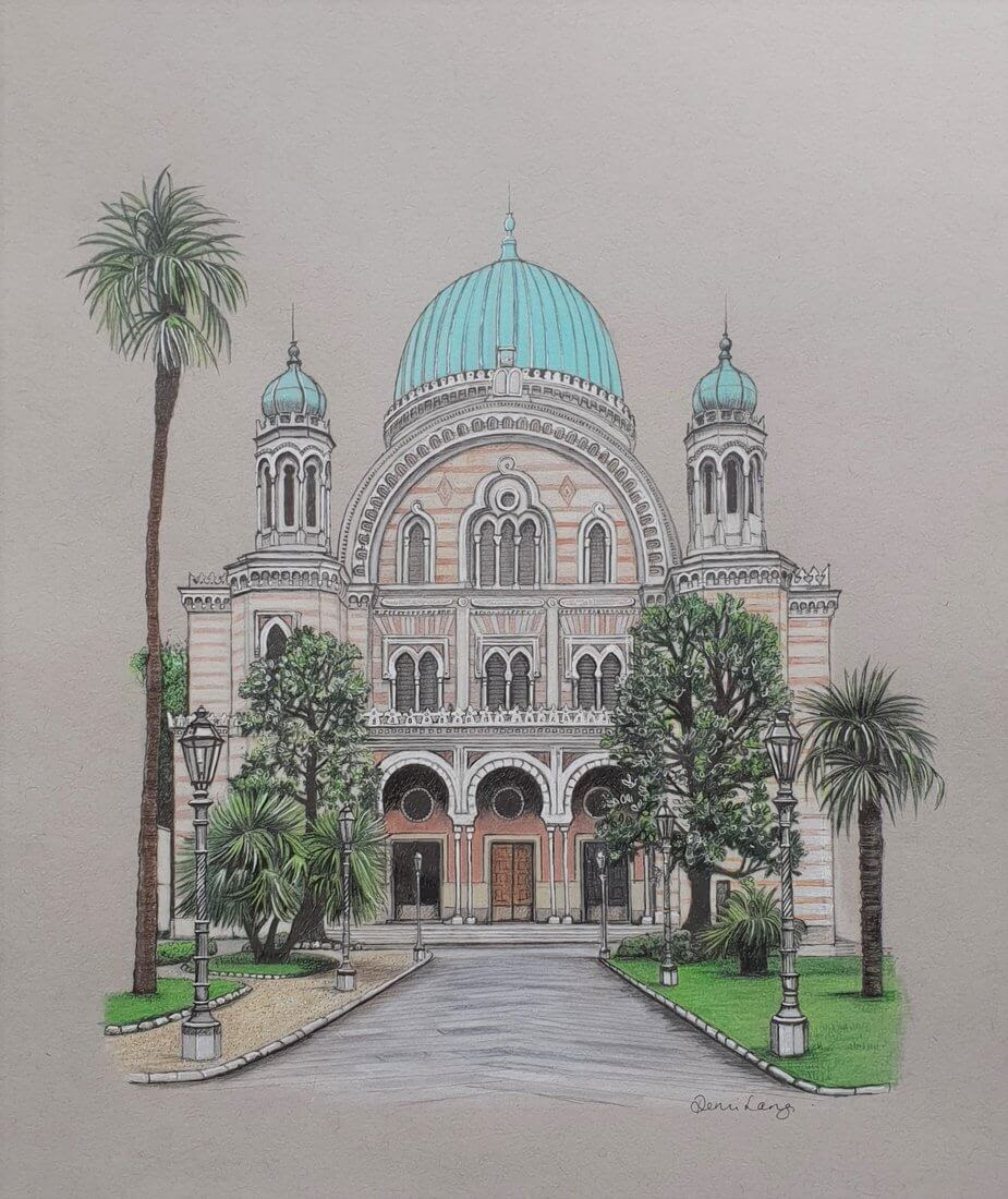 13-The-Great-Synagogue-Demi-Langdoes-Drawings-of-Architectural-Details-and-Buildings-www-designstack-co