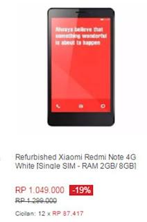 Xiaomi Redmi Note 4G White