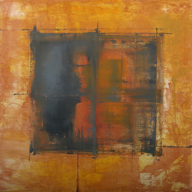 Image of the abstract painting entitled Waiting by artist Martha Hope Carey