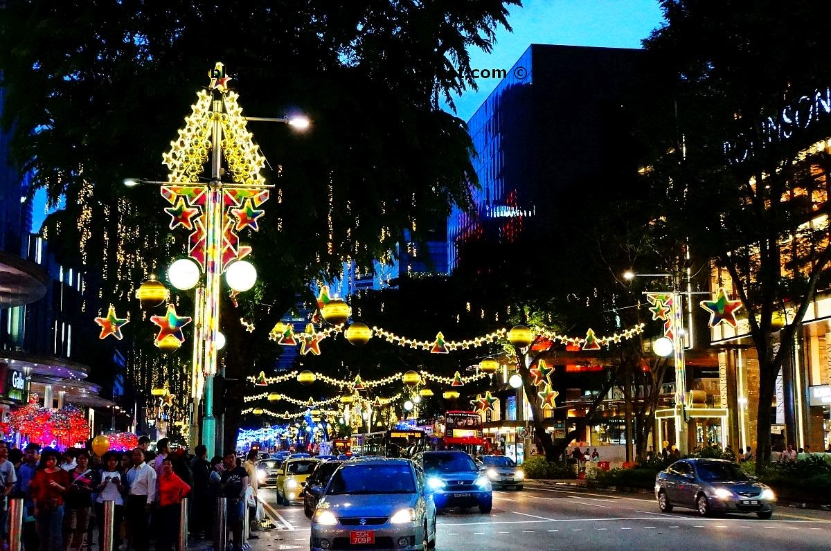 Orchard Road street decorations during Christmas 2014