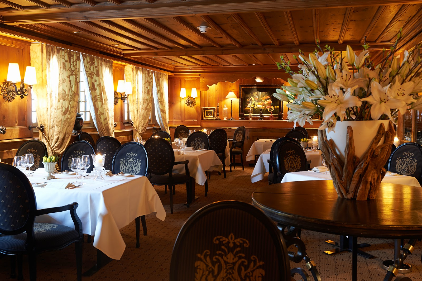 Le Grill at the Gstaad Palace. Photo: Gstaad Palace.
