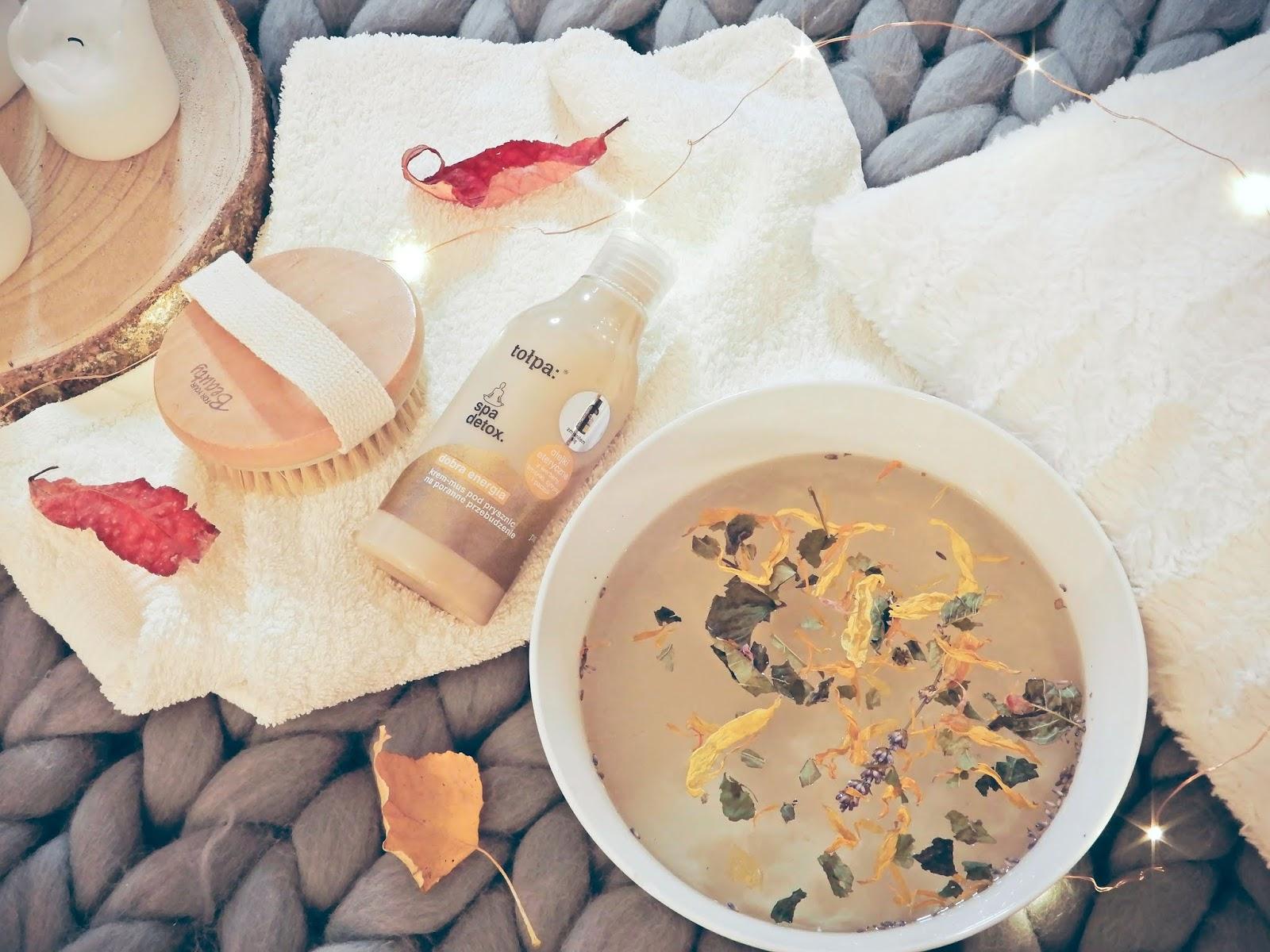 Tołpa Spa detox, Tołpa Spa detox krem-mus pod prysznic, Tołpa Spa detox  kąpiel borowinowa do odnowy biologicznej, tołpa spa detox sól do kąpieli, tołpa spa detox peeling do odnowy biologicznej przed snem,