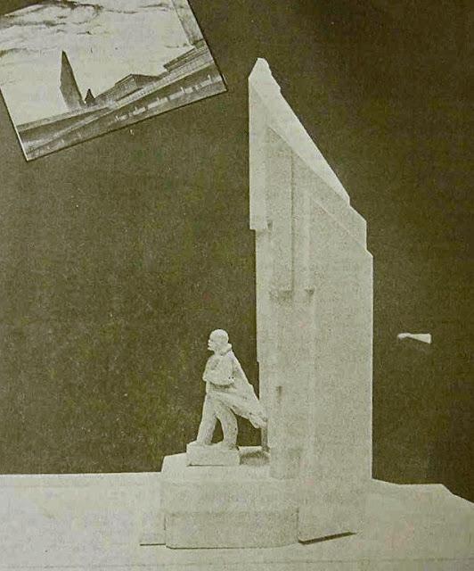 Конец 1980-х годов. Рига. Цитадель. Проект памятника Ленину.