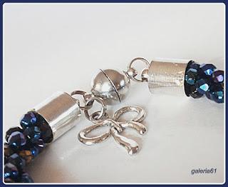 sznur szydełkowo koralikowy, bransoletka FP 4mm, zapięcie magnetyczne