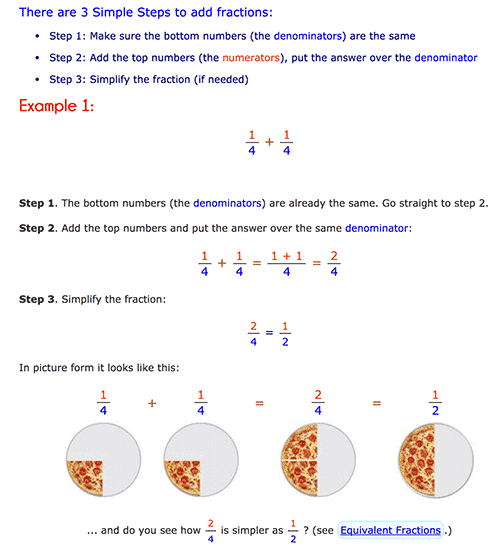 How to add fractions - Maths is Fun