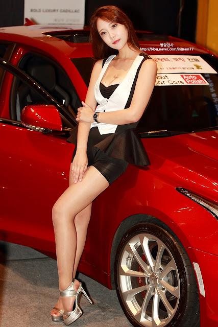 5 Song Da Mi - Seoul Auto Salon - very cute asian girl-girlcute4u.blogspot.com
