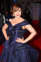 Payal Ghosh aka Harika in Dark Blue Deep Neck Sleeveless Gown at 64th Jio Filmfare Awards South 2017 ~  Exclusive 025.JPG