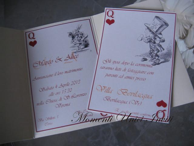 alice Partecipazione tema Alice nel paese delle meravigliePartecipazioni Pocket Tema Alice in wonderland