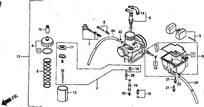 NSR Salatiga: NSR 150 SP Parts Catalogue: Carburetor