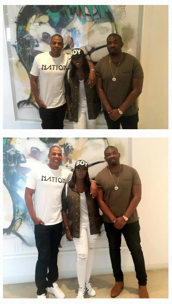 Tiwa Savage and Don Jazzy meet Jay Z in New York