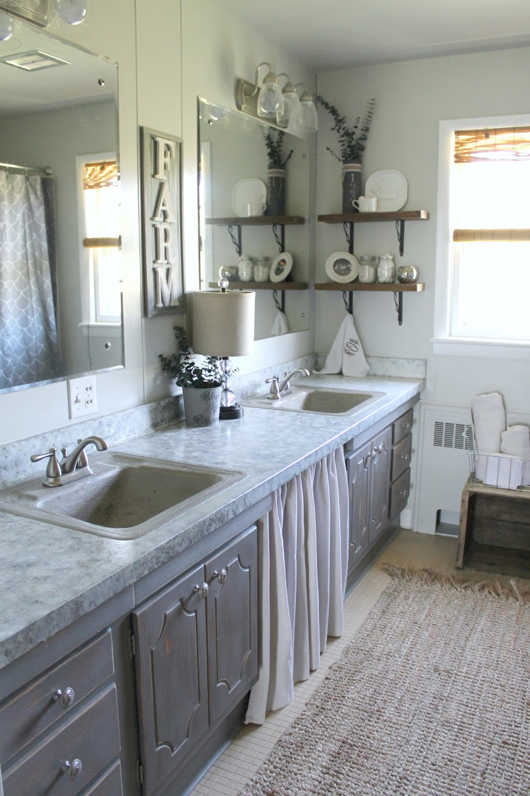 Grace Lee Cottage Farmhouse Bathroom Makeover - Bathroom makeover