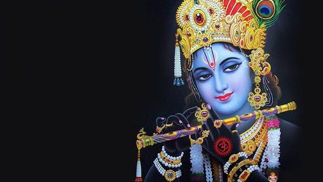 Lord Krishna  Wallpaper In Black Background
