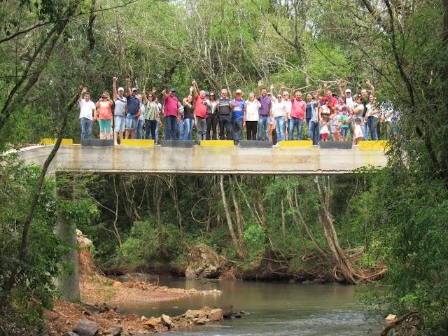 Enfim final feliz: Inaugurada a ponte do Cancã de Baixo