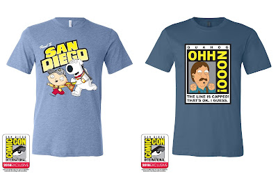 San Diego Comic-Con 2018 Exclusive Family Guy T-Shirt Collection by Toddland