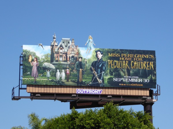 Miss Peregrines Home Peculiar Children special extension billboard