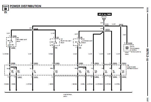 Repair-manuals: BMW Z3 1997 Electrical Repair