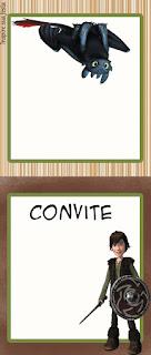 Para hacer invitaciones, tarjetas, marcos de fotos o etiquetas, para imprimir gratis deCómo Entrenar a tu Dragón.