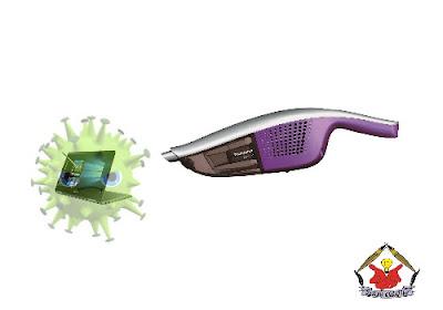 ilustrasi membasmi virus komputer