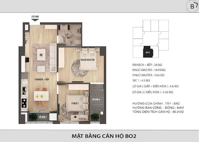 Chi tiết căn hộ B02