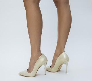 Pantofi Malima Aurii de ocazii cu toc inalt subtire