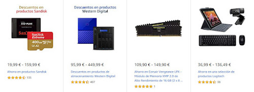 Top 15 productos Logitech, SanDisk, Crucial y WD de las Ofertas de Back to Business de Amazon