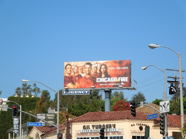 Chicago Fire 2 Feel the heat billboard