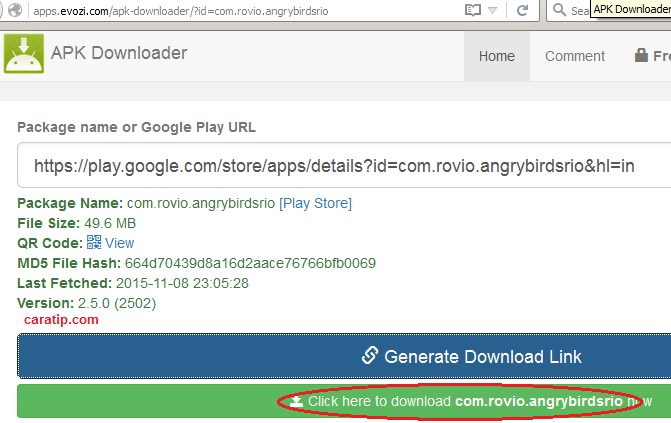 cara download file apk di google play store