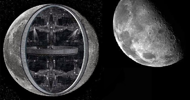 Αποτέλεσμα εικόνας για φεγγάρι Σλήνη Ουφο UFO Moon