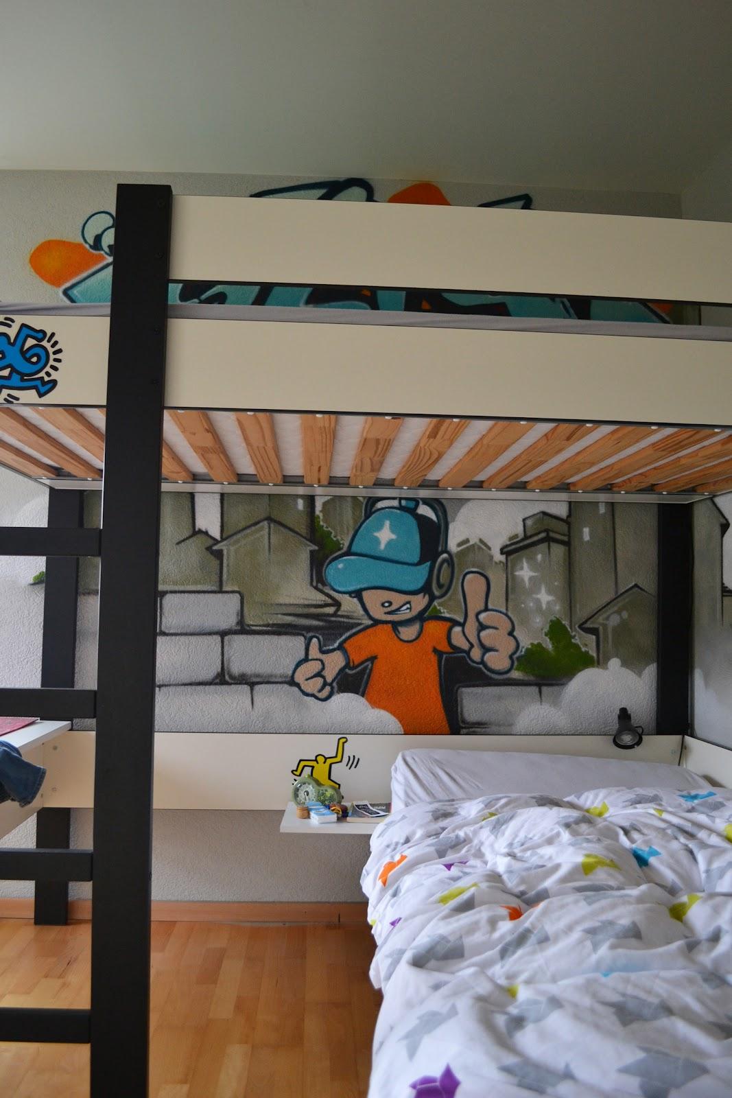 Déco graffiti pour une chambre denfant à lausanne une ambiance hip hop garantie pour le plaisir des enfants