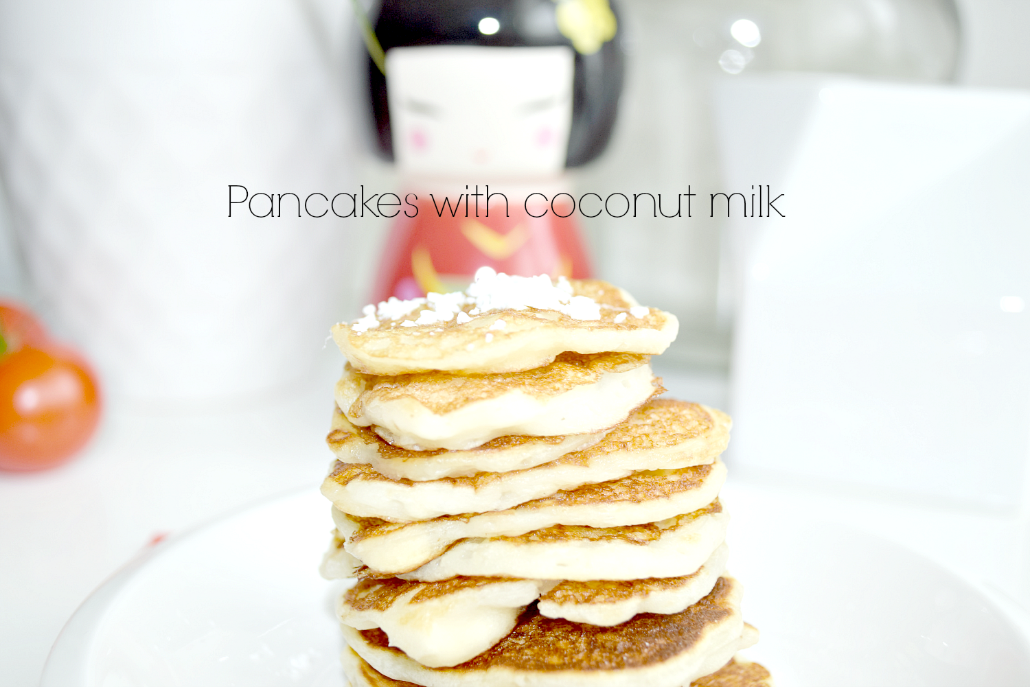 Pancakes with coconut milk