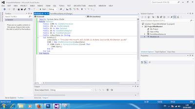Membuat Form Test Koneksi Database Mini Market