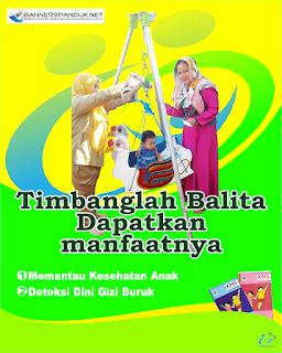 Desain Poster menimbang bayi di posyandu B