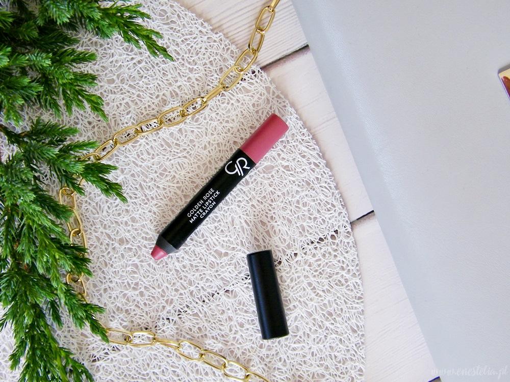 Ulubione pomadki na co dzień | Golden Rose Matte Crayon Lipstick 10