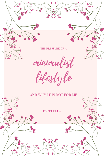 Minimalist lifestyle graphic - pink flowers