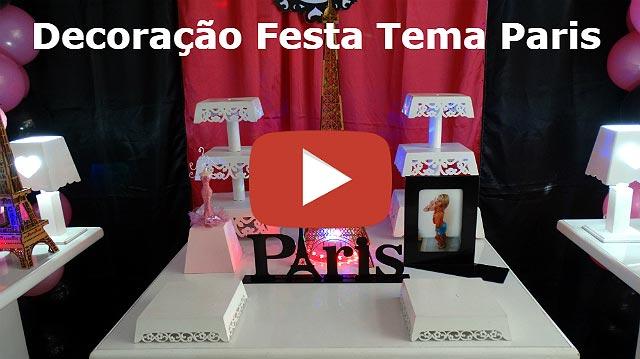 Decoração de mesa de festa Paris para aniversário feminino de adolescentes e adultas.