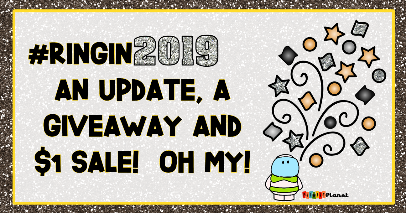 Image with text: #Ringin2019 with An Update, a Giveaway, and a Sale!  Oh my!